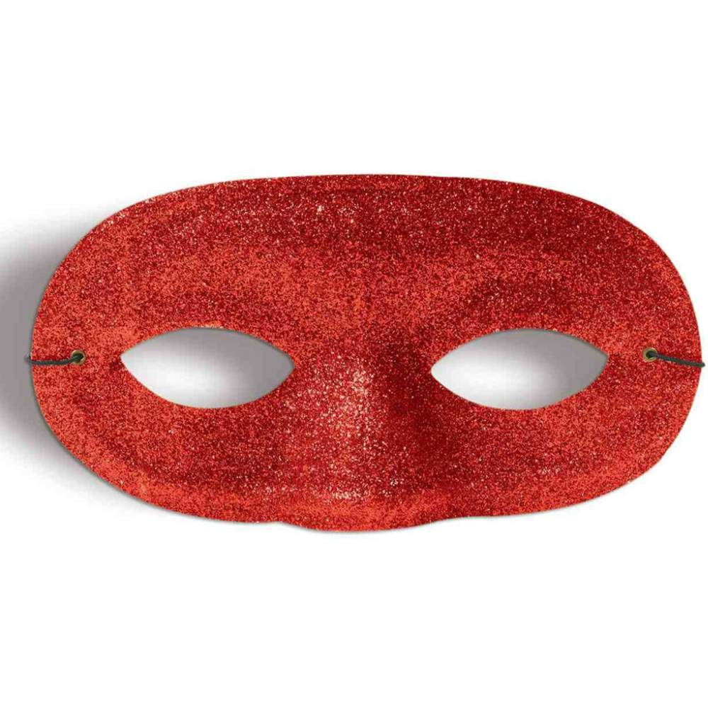 Adult or Child's Costume Accessory Gold Glitter Domino Eye Mask