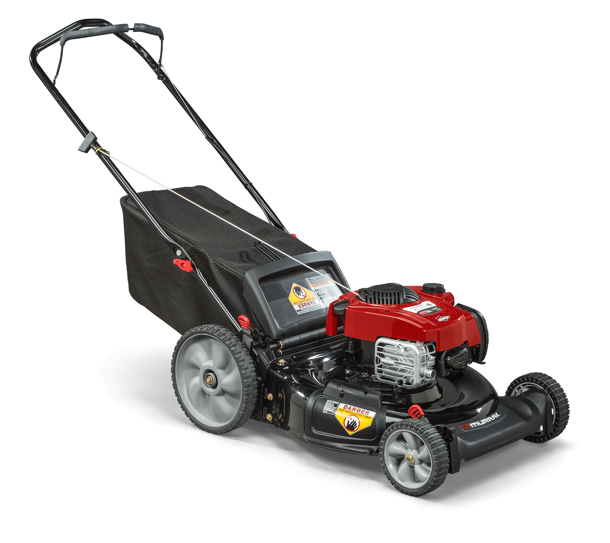 "Murray 21"" Gas Push Lawn Mower with Briggs and Stratton Engine, Side Discharge, Mulching, Rear Bag, Rear High... by MTD"