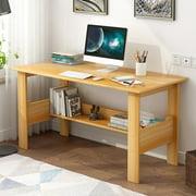 BEFOKA Computer Desk Modern Minimalist Desk Easy to Assemble Writing Desk Home Laptop Notebook Corner Desk Home Laptop Notebook,Yellow