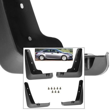 Front Rear Mud Flaps Splash Guards 2013-2015 Lexus ES350 Mudguards