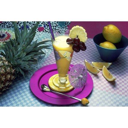 Laminated Poster Fruit Beverage Fresh Fruit Food Juice Drink Poster Print 24 X 36