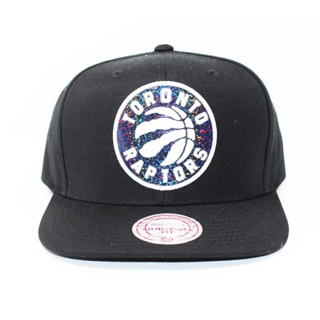 Mitchell and Ness Toronto Raptors Dark Hologram Black Snapback Hat - image 5 of 5
