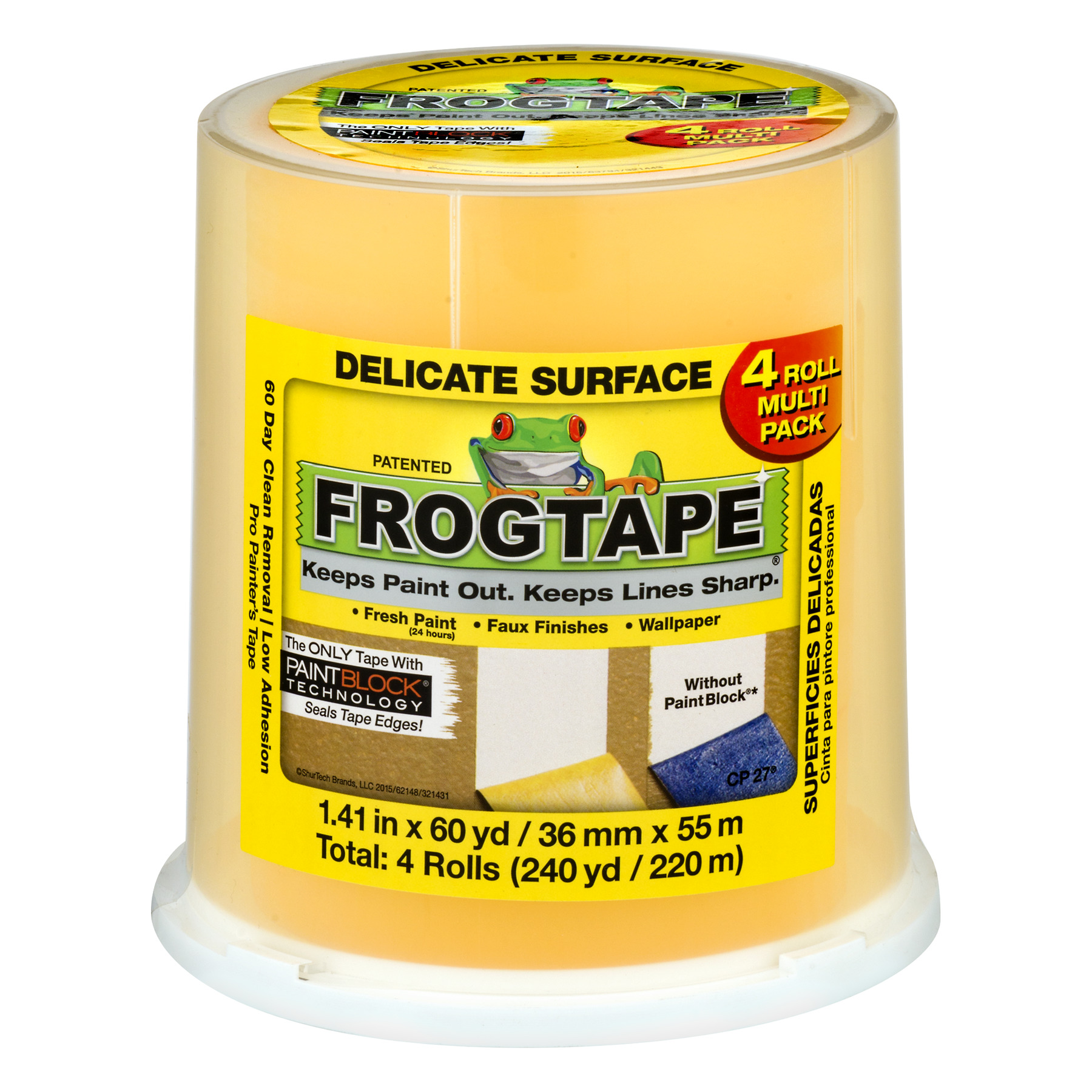 FrogTape Delicate Surface Yellow - 4 CT60.0 YARDS