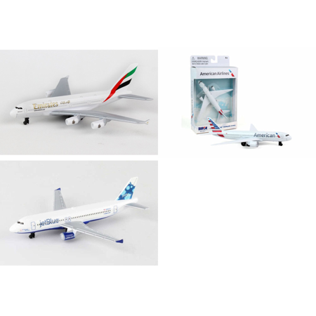 Emirates  American  Jetblue Airlines Diecast Airplane Package   Three 5 5  Diecast Model Planes