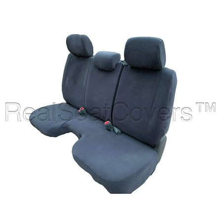 10mm Thick Seat Cover for Toyota Tacoma Regular Cab Solid Bench Three Adjustable Headrests Exact Fit A30 (Dark