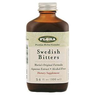 Swedish Bitters Alcohol Free Formula by Flora Inc (3.4oz Liquid)