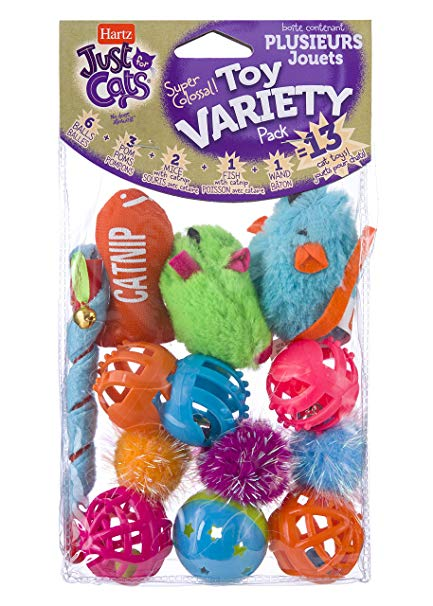 Hartz Just For Cats Cat Toy Variety Pack, 13 Count by The Hartz Mountain Corporation