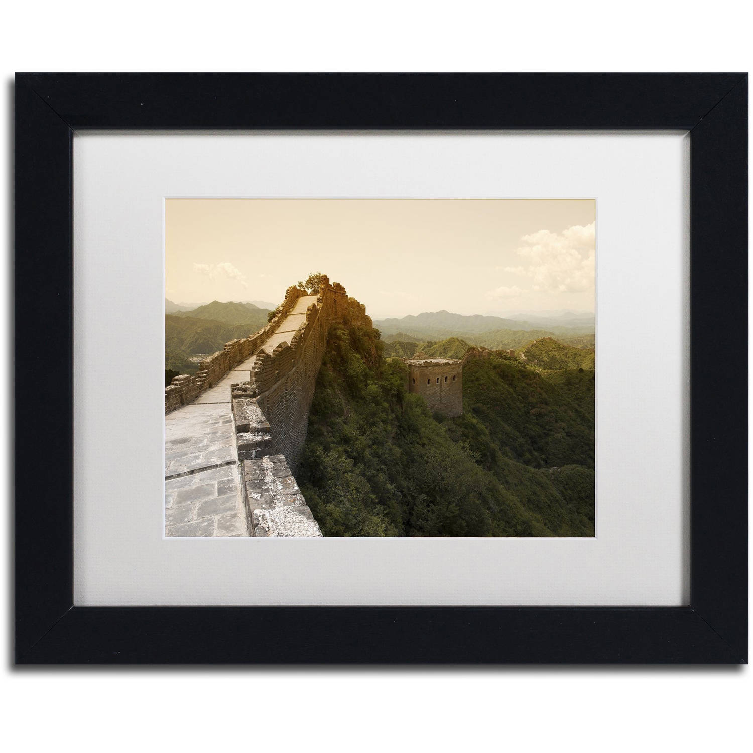 "Trademark Fine Art ""Great Wall X"" Canvas Art by Philippe Hugonnard, White Matte, Black Frame"