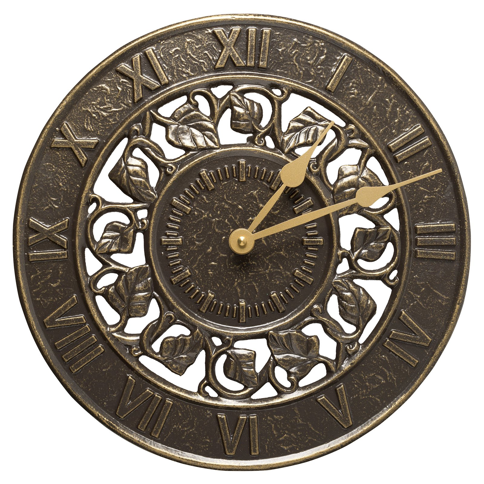 Ivy Silhouette 12 in. Outdoor Wall Clock