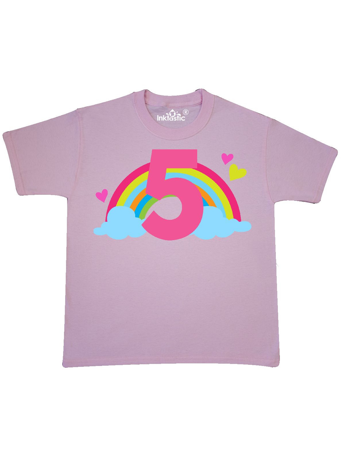 5th Birthday Rainbow Youth T-Shirt