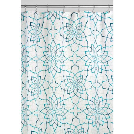 InterDesign Kenzie Floral Fabric Shower Curtain, 72\