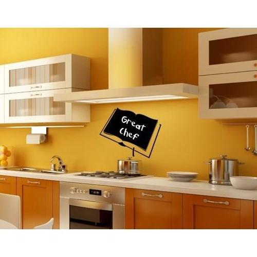 Style and Apply Book Chalkboard and Eraseboard Wall Decal