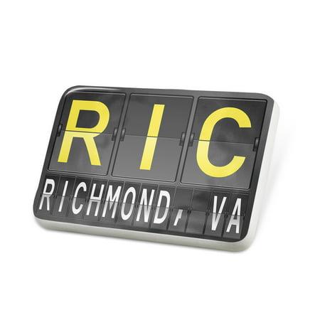 Porcelein Pin RIC Airport Code for Richmond, VA Lapel Badge – (Fashion Park Richmond Va)