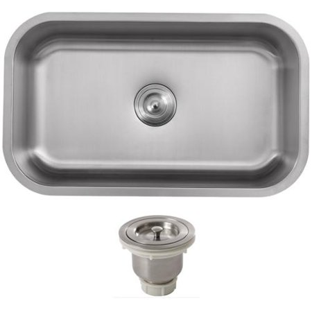 Phoenix 32-inch Stainless Steel 18 gauge Undermount Single Bowl ...