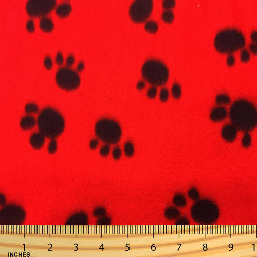 SHASON TEXTILE (2 Yards cut) POLAR FLEECE FABRIC 100% POLYESTER ANTI-PILL, New Friendly Big Paws, Available in Multiple Colors