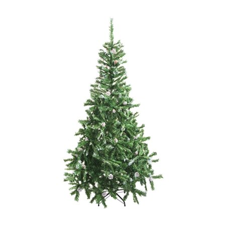 ALEKO CT59H11 Luscious Artificial Christmas Holiday Tree - 5 Foot - with White Tips and Snow Covered Pine Cones ()