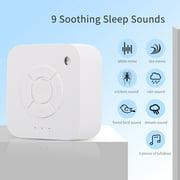 Portable 9 Sound Light Sleep Machine White Noise Machine Travel Sound Machine for Sleeping Baby Adult Home Office Travel