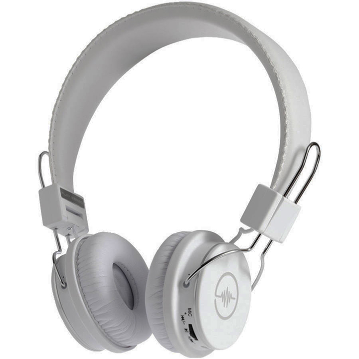Blue Tiger 17-090857 Soundtrax Bluetooth Stereo Headphones, White