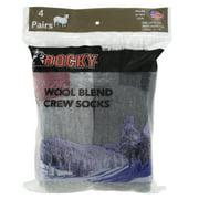 Rocky Men's Wool Blend Crew Socks 4-Pack