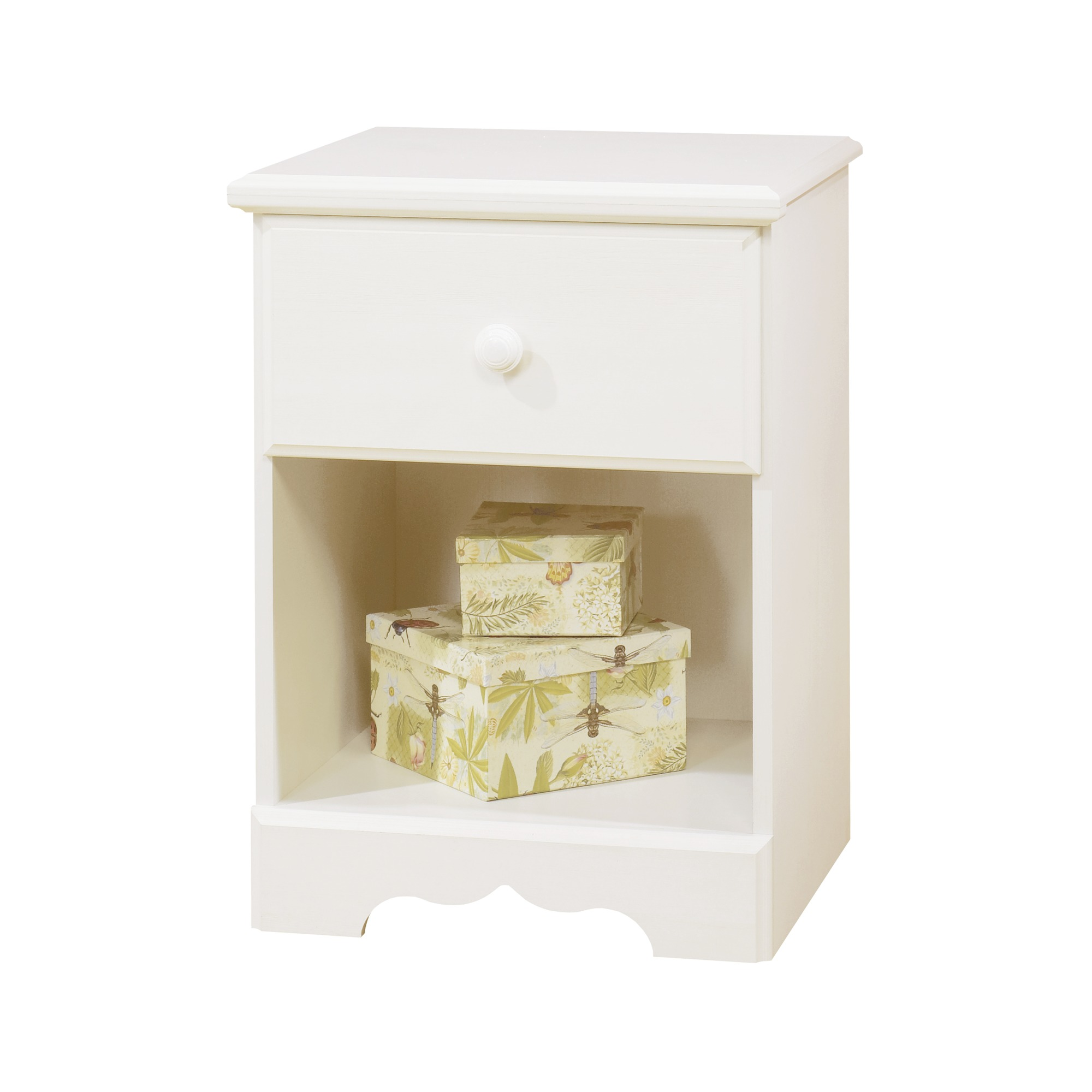 South Shore Summer Breeze 1 Drawer Kidsu0027 Nightstand, Multiple Finishes