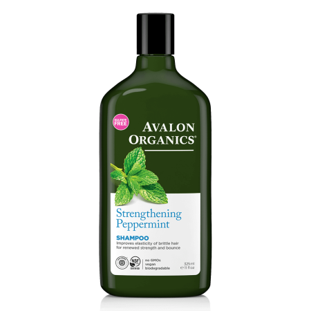 Avalon Organics Strengthening Peppermint Shampoo, 11 Fl Oz