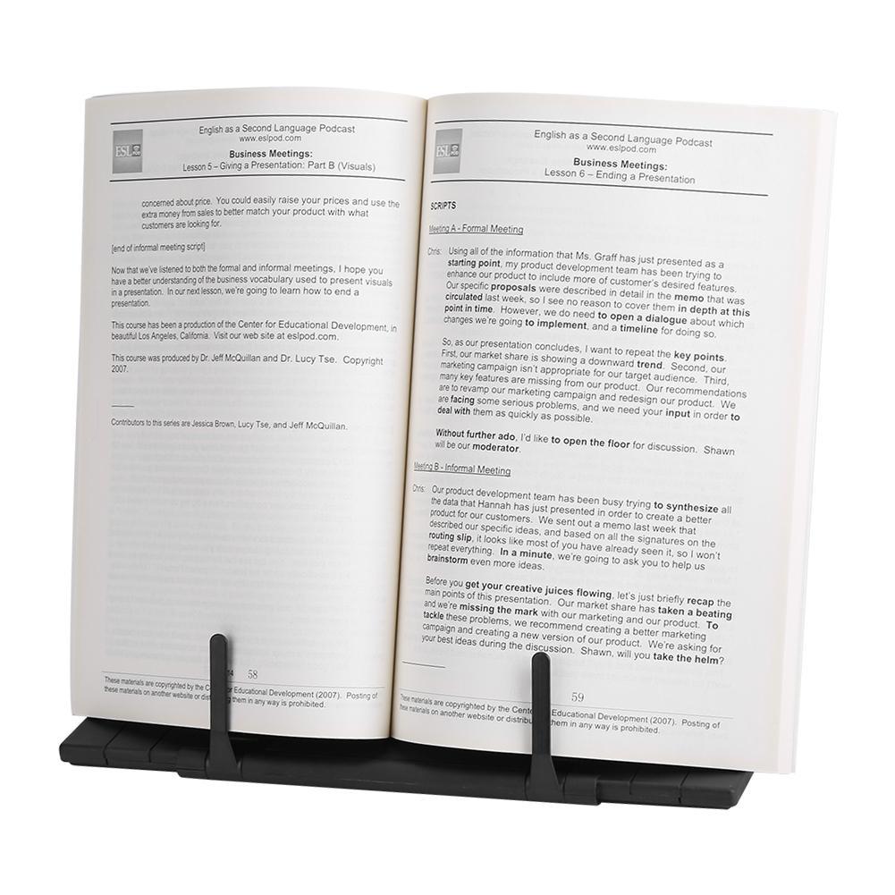 Knifun Book Stand Bookstand Adjustable Tilt,Portable Steel Book Stand Bookstand Adjustable Tilt Reading Desk Holder Black