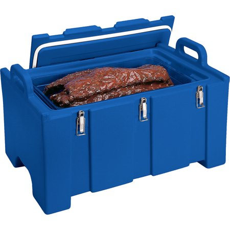 Cambro 40 Qt Cooler / Insulated Food Carrier, Molded Handles, Navy Blue,  100MPC-186