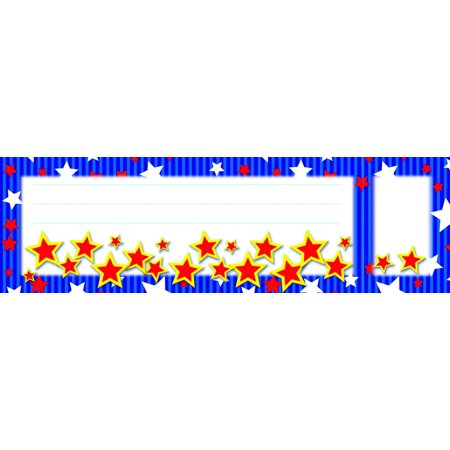 North Star Teacher Resources Stars And Stripes Seat And Cubby Sign  3 X 2 In Cubby Sign  9 X 3 In Seat Sign  Pack Of 36