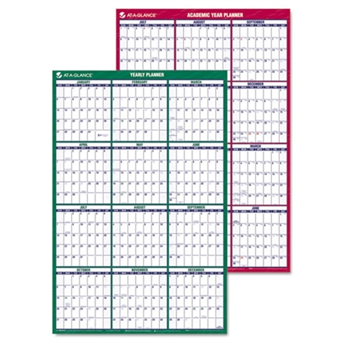 At-A-Glance Vertical Erasable Wall Planner, 24 x 36, 2015-2016/2017 -AAGPM210S28