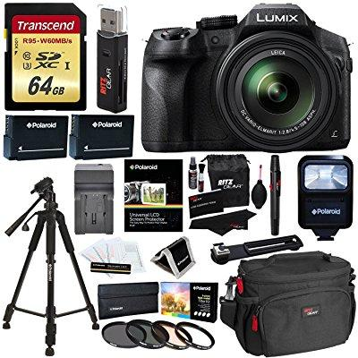 Panasonic LUMIX DMC FZ300 4K Point and Shoot Camera with Leica DC Lens 24X Zoom Black + Polaroid Accessories +... by Panasonic