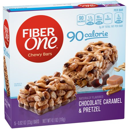 Fiber One 90 Calorie Bar Chocolate Caramel And Pretzel 5   0 82 Oz Bars