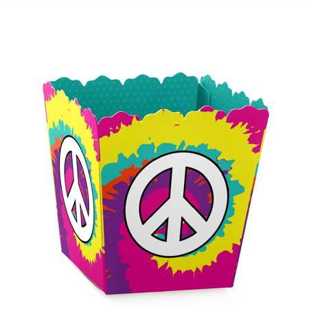 60's Hippie - Party Mini Favor Boxes - 1960's Groovy or Birthday Party Treat Candy Boxes - Set of - 1960's Halloween Candy