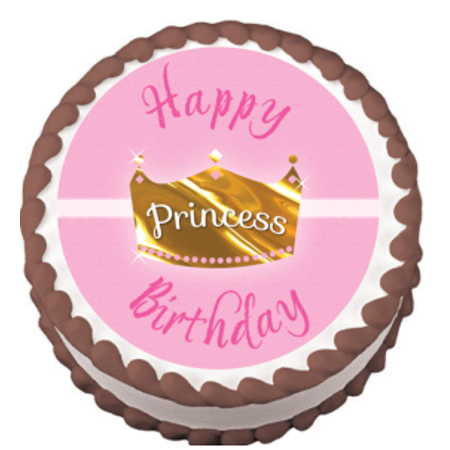Crown Tiara Edible Frosting Sheet Photo Image Cake Topper](Tiara Cake Topper)