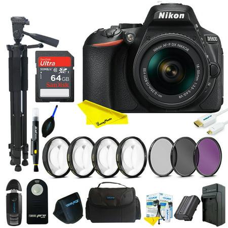Nikon D5600 DSLR Camera with 18-55mm Lens + Buzz-Photo Advanced kit