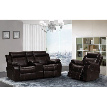 living in style gabrielle 2 piece living room reclining set walmart