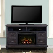 """Dimplex Solomon Media Console Electric Fireplace With Acrylic Ember Bed for TVs up to 60"""", Weathered Grey"""