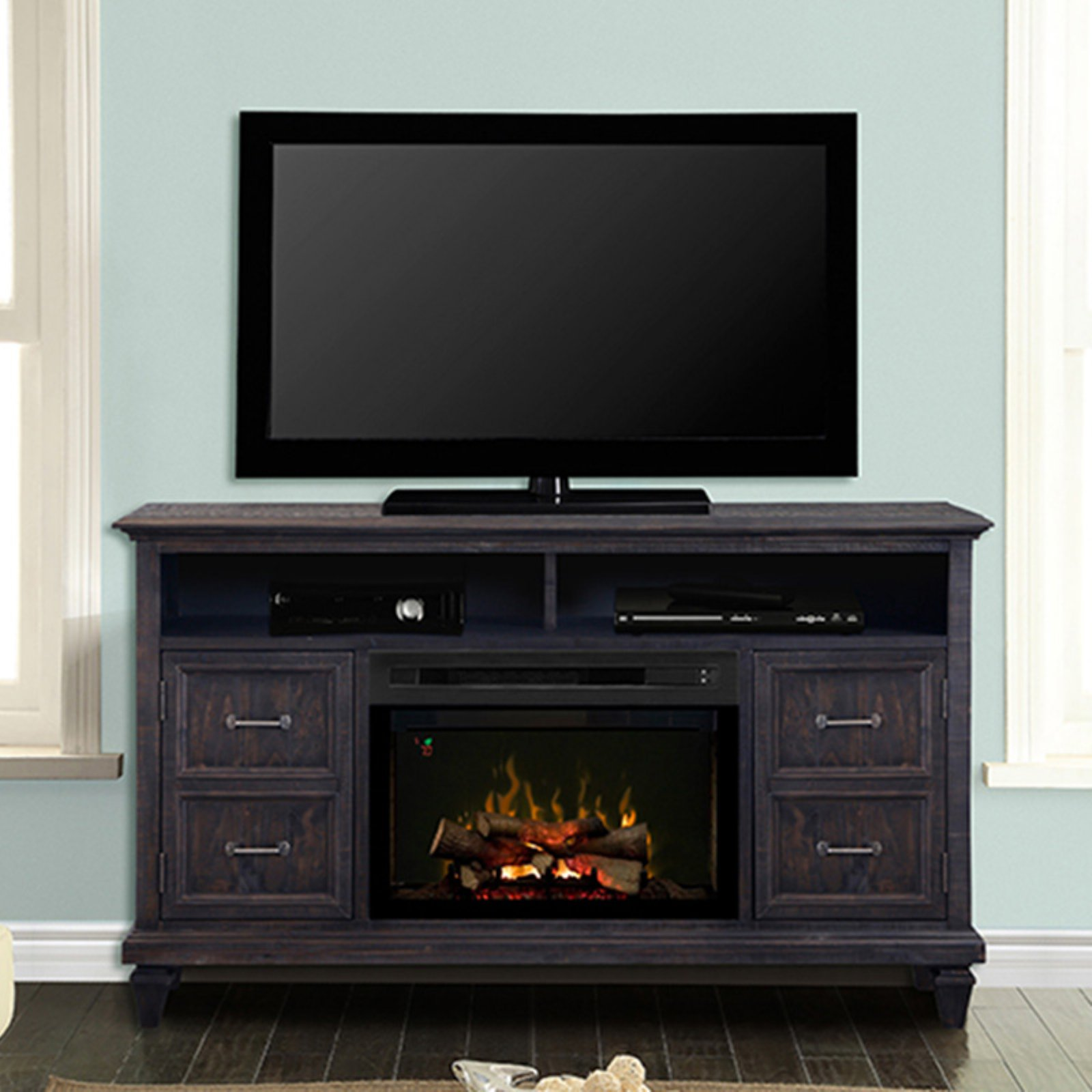Dimplex Solomon Media Console with Electric Fireplace