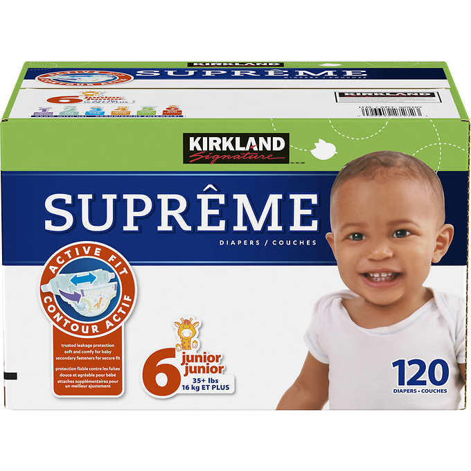 Kirkland Signature Supreme Diapers Size 6%3b 120 count pr...