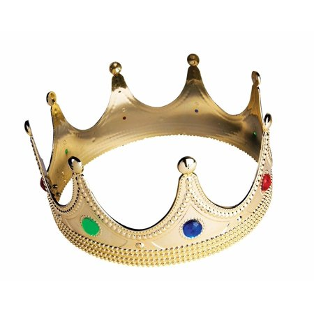 Child Gold Queen Princess Crown Tiara, Gold, One Size - Big Tiaras And Crowns