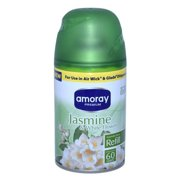 Amoray Jasmine and White Flower Automatic Refill Spray for Air Wick and Glade - 5 oz - 4 Pack + FREE SHIPPING!