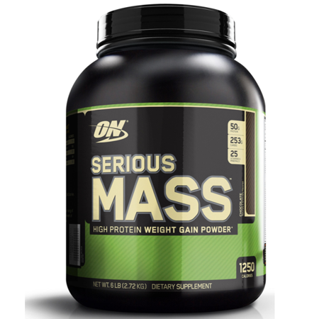 (Optimum Nutrition Serious Mass Protein Powder, 50g Protein, (Variety of Sizes & Flavors))