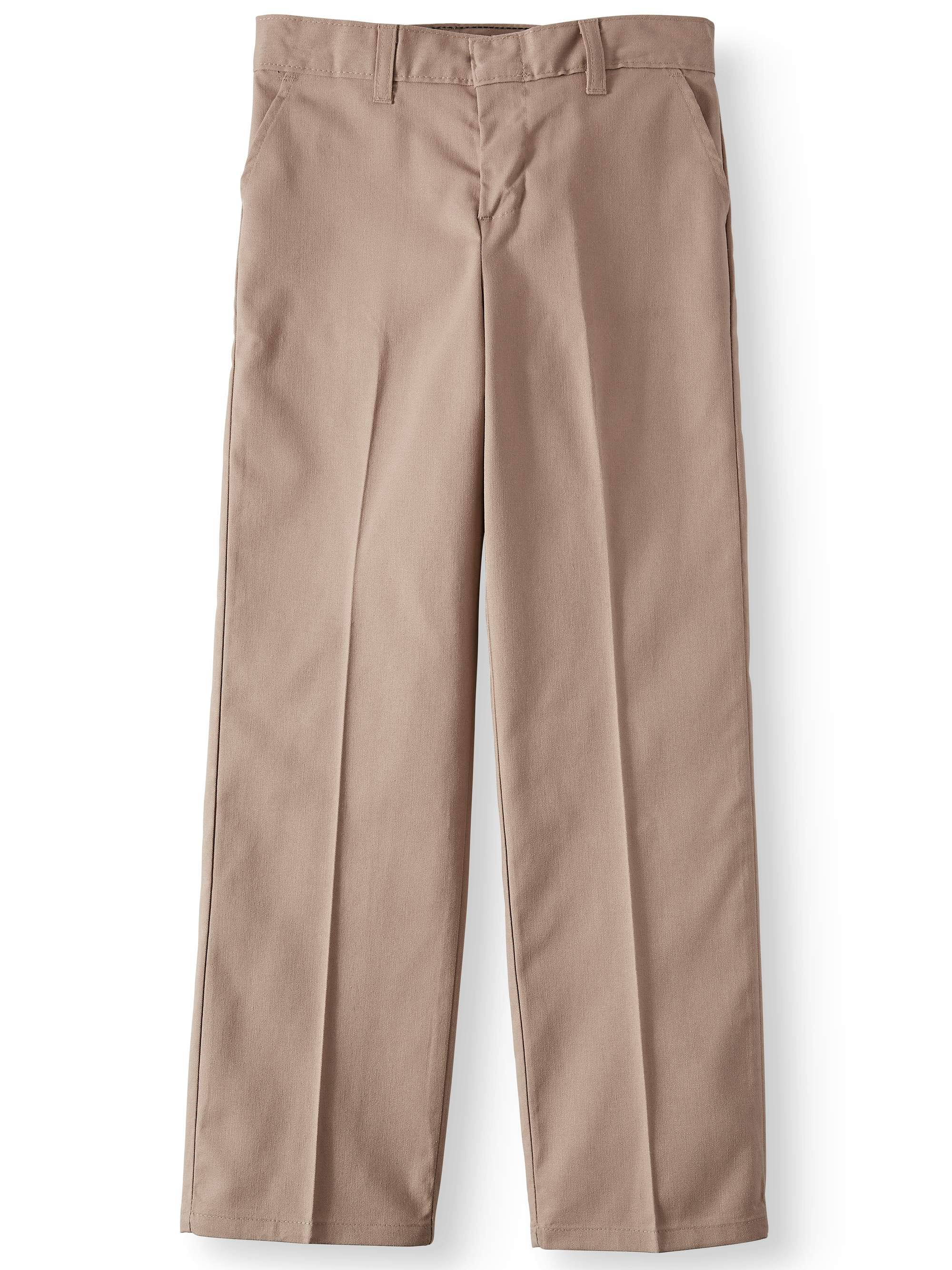 Girls' Traditional Flat Front School Uniform Style Pants