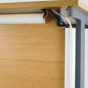 """2Pc D-Line R5FT3015W 60"""" White Decorative Mini Cord Cover"""