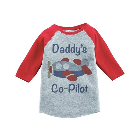 Boys Novelty Ties (Custom Party Shop Boy's Novelty Airplane Vintage Baseball Tee - Red and Blue /)