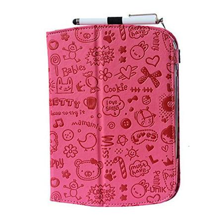 i-UniK Leapfrog Epic & Leapfrog Epic Academy Edition Case Custom Folio Kickstand Hand Strap Tablet case for Leapfrog Epic Tablet Bonus Stylus (Cute Pink) - image 1 de 1