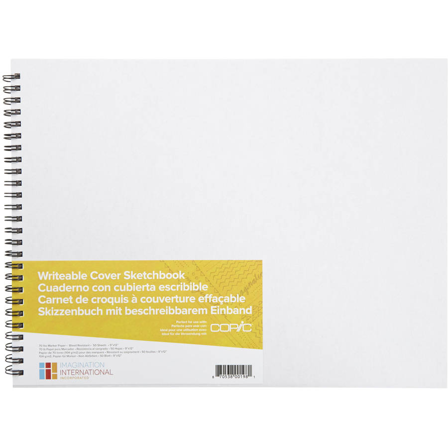 "Copic Writable Cover Sketchbook 9""X12"" 50 Sheets"