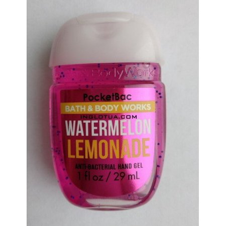 Bath and Body Works 5 Pack Pocketbac Hand Sanitizers. Watermelon Lemonade. 1