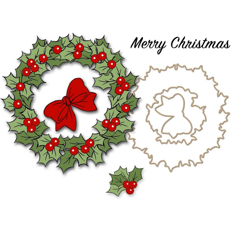 "Art Impressions Christmas Clear Stamp Set 4""x4""-christmas Wreath"