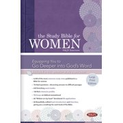 The Study Bible for Women: NKJV Large Print Edition, Hardcover