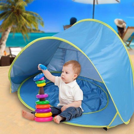 WALFRONT Portable Tent, Free Outdoor Sun Protection Children's Tent, Pop Up Collapsible Portable Shade Pool UV Protection Canopy Sun Shelter Playhouse for Infant, Carry